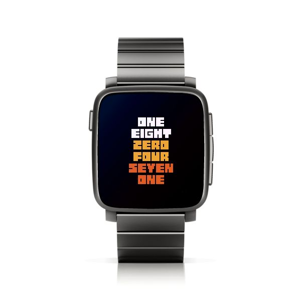 TTMMNUMBER for Pebble Time Steel #PebbleTime #PebbleTimeSteel #Pebble #watchface