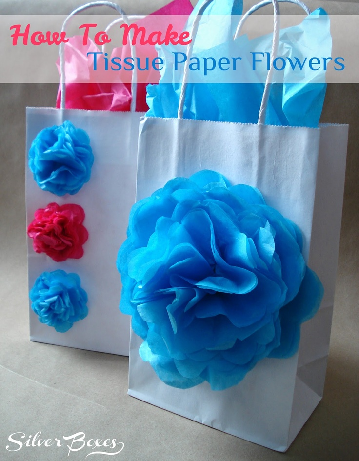 Silver Boxes: How To Make Tissue Paper Flowers