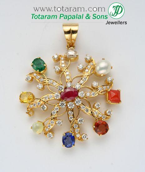 Spiritual Pendants in 22K Gold - Indian Gold Jewelry from Totaram Jewelers Online