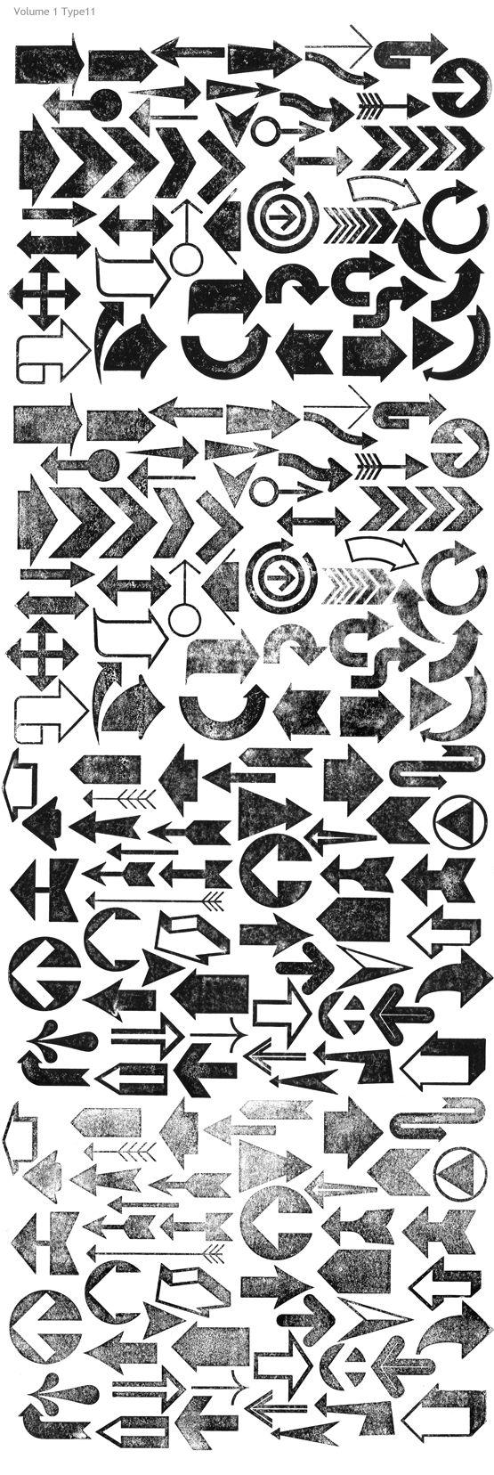 arrows - Letterpress Type11
