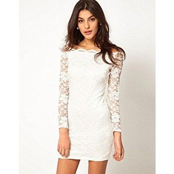 Fashion Strapless Boat Neck Lace Slim Dress&Party Dress for only $28.00 ,cheap Fashion Dresses - Clothing & Apparel online shopping,Fashion Strapless Boat Neck Lace Slim Dress&Party Dress, Thiss dress featuring the off-shoulder neckline design