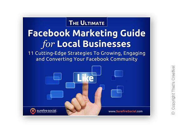 Facebook Marketing Guide Ecover Design  (Ebook Cover Design) by www.thatscreativeebookdesign.com.