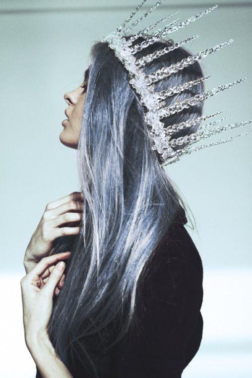 Snow Queen crown, using a hot glue gun