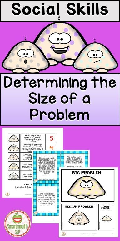 Snow Problem is a winter themed product to work on identifying the size of a problem, the size of a reaction and more!