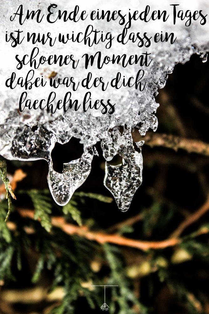 Smile each day every Lächle jeden Tag Frozen gefroren Schnee Snow Macro Makro Photography Fotografie Handlettering calligraphy Handschrift Text Zitat…