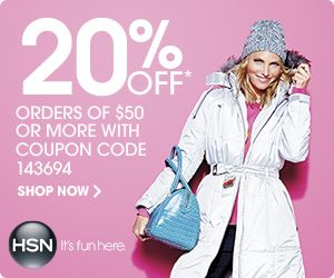 HSN.com: Get 20% off orders of $50 or more. Plus Up to 3% cash back!
