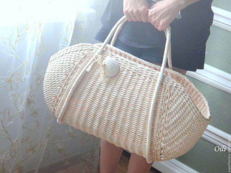 """Купить сумка пляжная """"Солнечный берег"""" - сумка пляжная, сумка плетеная, сумка ручной работы"""