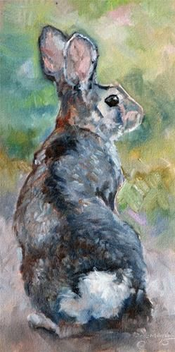 """Daily Paintworks - """"Looking Back"""" - Original Fine Art for Sale - © Carlene Dingman Atwater"""