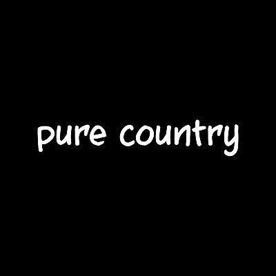 PURE COUNTRY Sticker Vinyl Decal car window Redneck boy girl southern cute USA