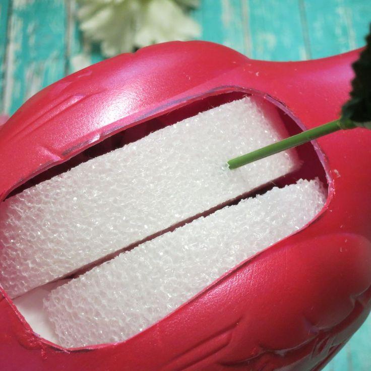 Machen Sie Flamingo-Pflanzgefäße für Ihre Sommerdekoration