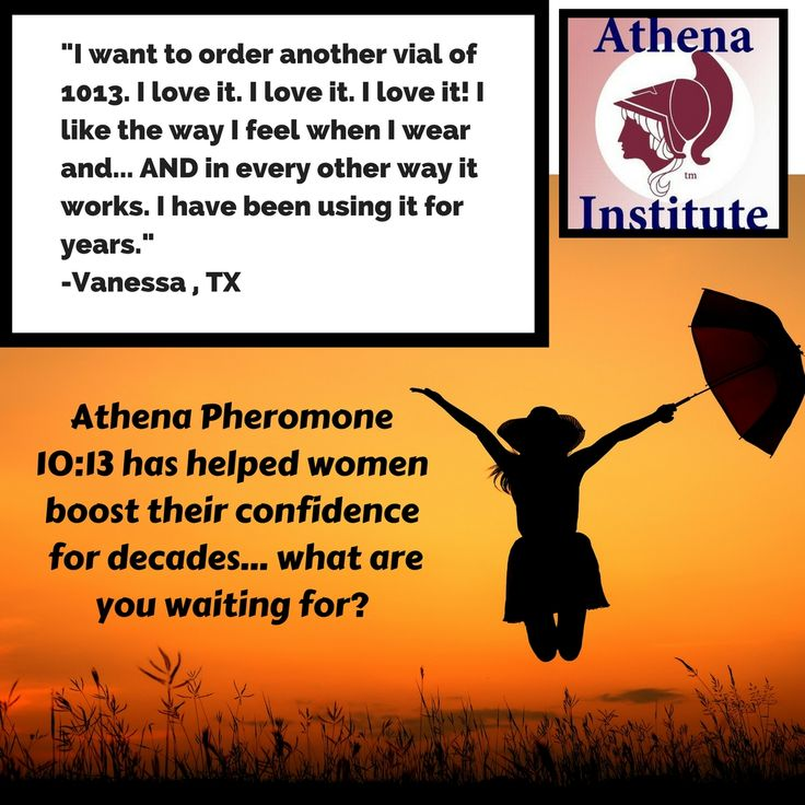Athena Pheromones have helped boost women's confidence for decades. Read more testimonials to see how it works, http://www.athenainstitute.com/testimonials.html #pheromones #women