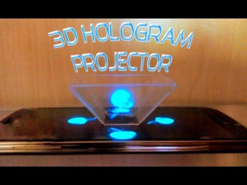 How To Turn Your Smartphone into a 3D Hologram Projector -Easy- Bau dir einen Hologramm Projektor - YouTube