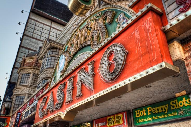 Exterior detail of O'Shea's Casino, Las Vegas. Casino