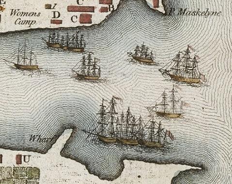 The First Fleet - http://en.wikipedia.org/wiki/First_Fleet