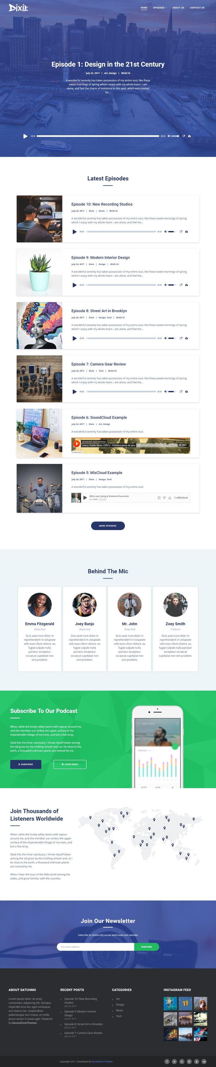 wedding invitation template themeforest%0A Dixie  Podcast and Audio WordPress Theme
