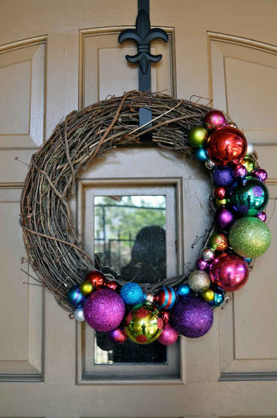 18in Outdoor Christmas Decor Wreath by MyCraftObsession on Etsy, $39.00