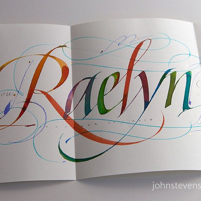 Card I am mailing to my accountant. Fun to write gratitude cards. | by JSD-calligraphy