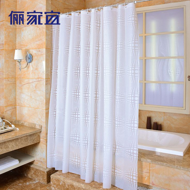 High Quality PVA Eco-friendly Shower Curtains Waterproof Bathroom Shower Curtain Bathroom Curtain With Hooks  #Affiliate