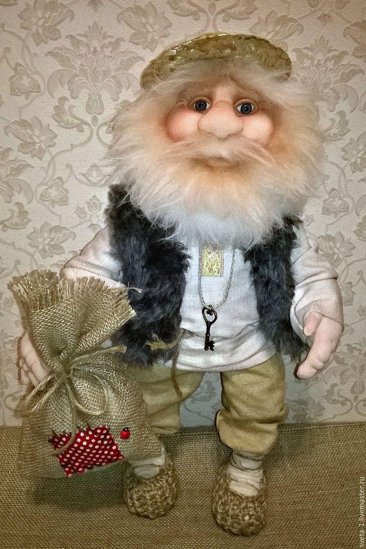 Купить домовой - бежевый, домовой, оберег для дома, оберег для семьи, интерьерная кукла, русский стиль