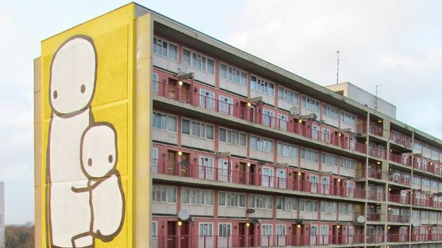 Mother and Child in Acton, by Stik