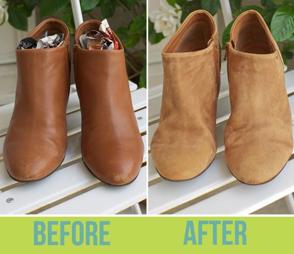 DIY: How to turn leather to suede - shoe distressing method: Turn Leather, Clothing Altered, Diy Fashion, Leather Boots, Diy Su Boots, Scuffed Boots, Old Shoes Diy, Diy Leather Crafts, Diy Leather Shoes