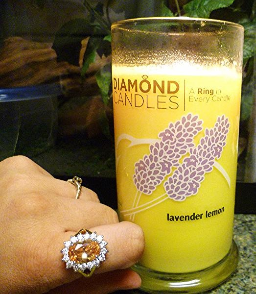 Inside every candle is a ring! @Diamond Candles
