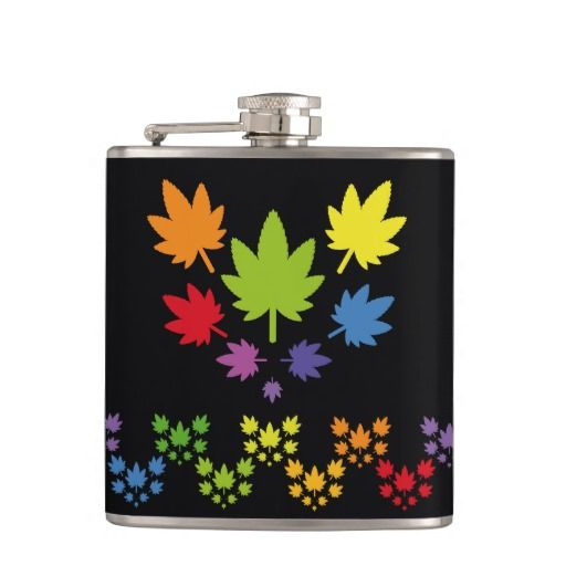 Hoja colores arcoiris vectorial de planta. Plant. Cannabis. Producto disponible en tienda Zazzle. Product available in Zazzle store. Regalos, Gifts. Link to product: http://www.zazzle.com/hoja_colores_arcoiris_vectorial_de_planta_plant_flask-256030783482524722?CMPN=shareicon&lang=en&social=true&rf=238167879144476949 #bottle #botella #petaca #marihuana #cannabis