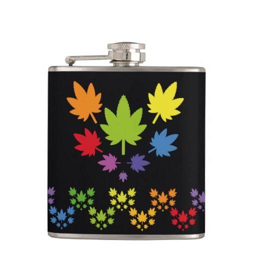 Hoja colores arcoiris vectorial de planta. Plant. Cannabis. Producto disponible en tienda Zazzle. Product available in Zazzle store. Regalos, Gifts. Link to product: http://www.zazzle.com/hoja_colores_arcoiris_vectorial_de_planta_plant_flask-256030783482524722?CMPN=shareicon&lang=en&social=true&rf=238167879144476949 #bottle #botella #petaca #marihuana #cannabis