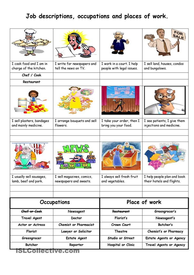Fun Career Worksheets : Best images about esl jobs and occupation job interview
