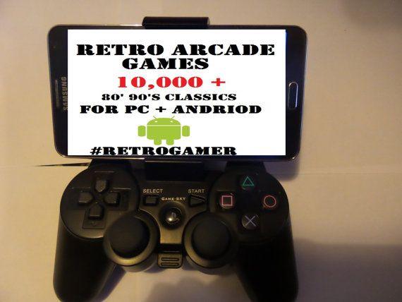 RETRO GAMES ARCADE 10,000 + classic #retro 80's 90's arcade games console games…
