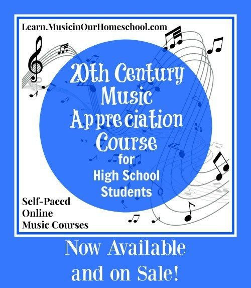 Giveaway of 20th Century Music Appreciation Course for High School. self-paced, online