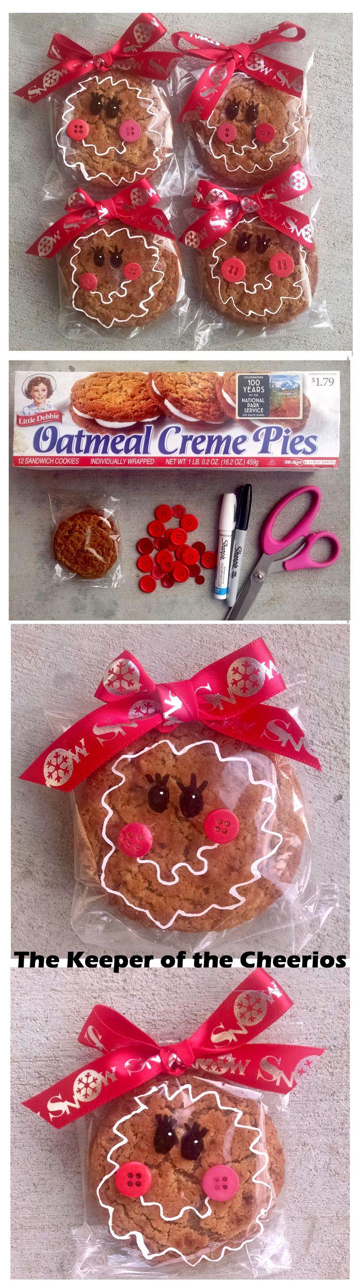 gingerbread girl prepackaged christmas cookie idea