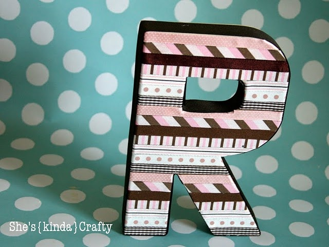 ribbon letter tutorial...SO cute!