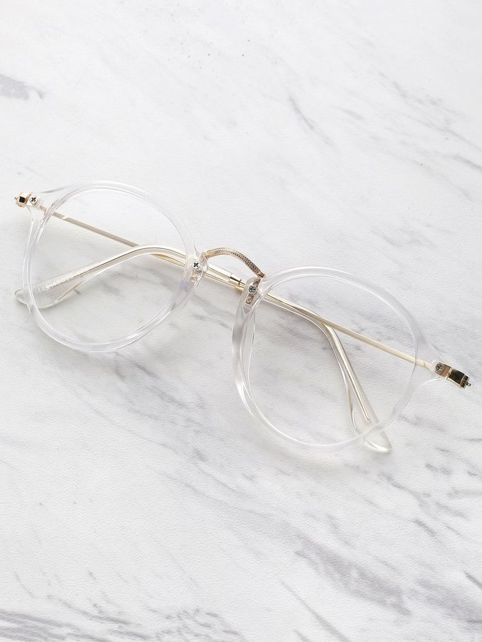 Transparency. Shop for Shein Transparent Frame Metal Top Bar Glasses ... 7fc06bdedeaf