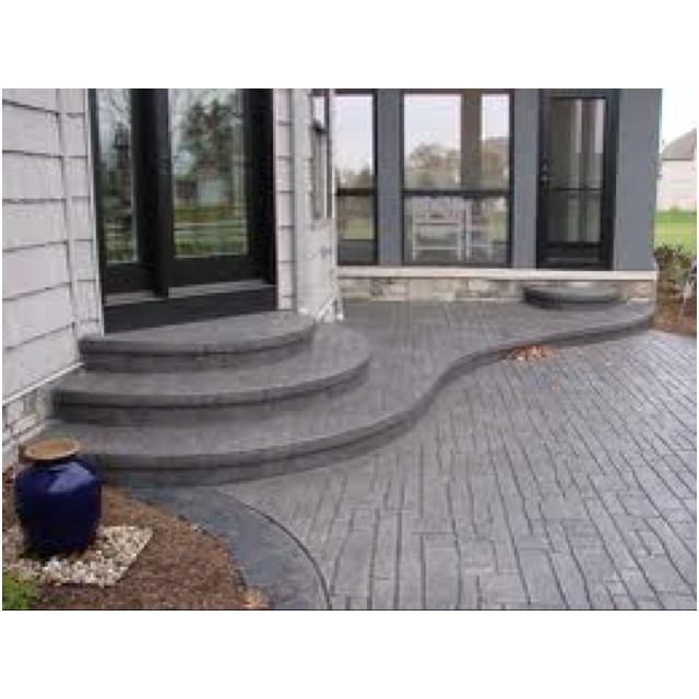 Backyard Steps Ideas: 1000+ Ideas About Diy Concrete Patio On Pinterest