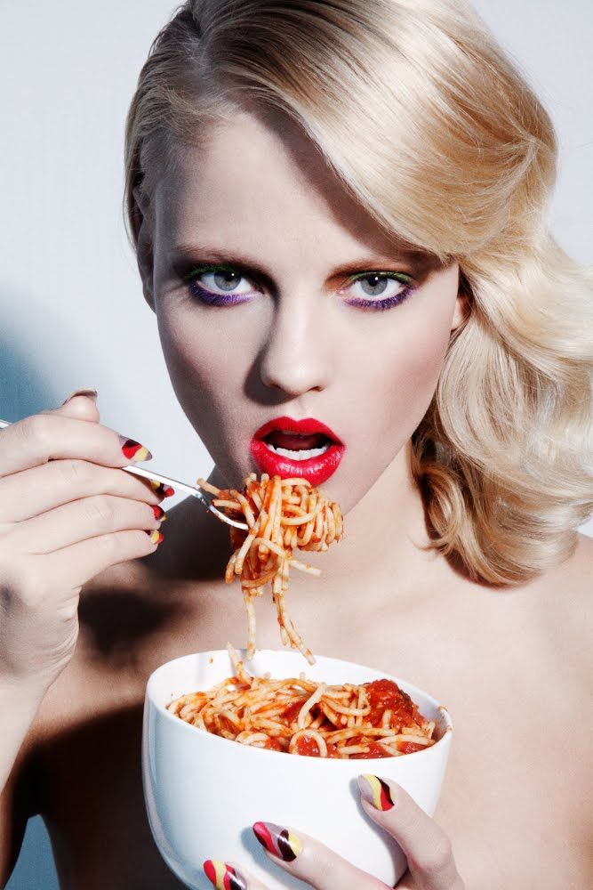 You know you look this good eating pasta!