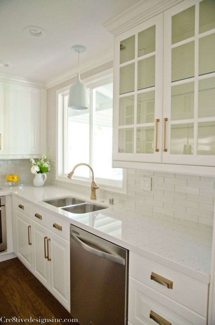 Kitchen Remodel Using Ikea Cabinets Counter Tops Are White Quartz Cashmere,  A Less Expensive And