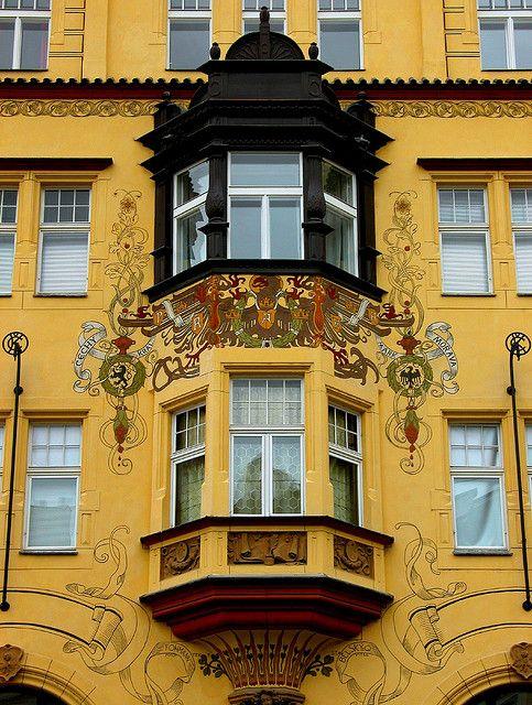 Art Nouveau facades in Prague, Czech Republic / Photo: Prague - Art Nouveau by Frengo2.0, via Flickr