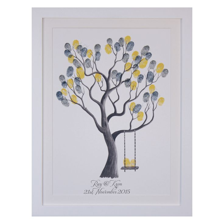 The Fingerprint Tree® – Walnut (B&W) Kit inclusions Fingerprint Tree® print, without leaves, produced on premium Archival Quality paper Available in A4, A3, A2 or A1 size A4 & A3 choice of white or walnut frame, delivered in a white gift box A2 & A1 option to add a frame Ink Pad Selection = Customise …