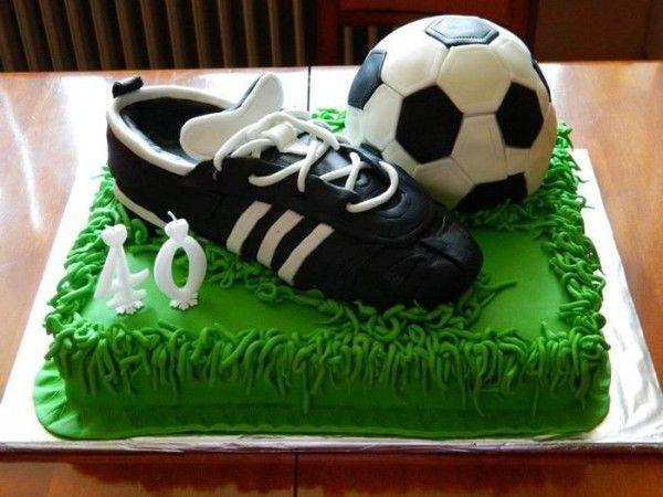 Torta de cumpleaños de fútbol | Diseño imágenes