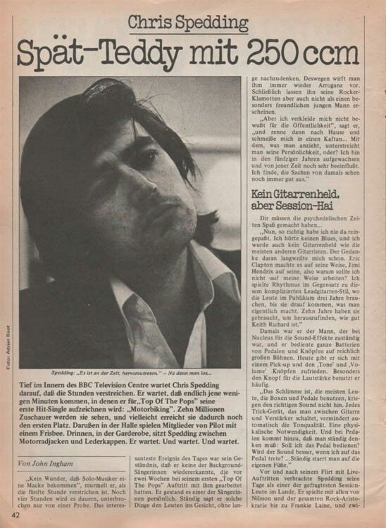 🎵'''Chris Spedding Sounds  (West German music magazine) Nov1976...😎...🎸'''🎵 http://www.chrisspedding.com/press/mag/s197611wg/index.htm
