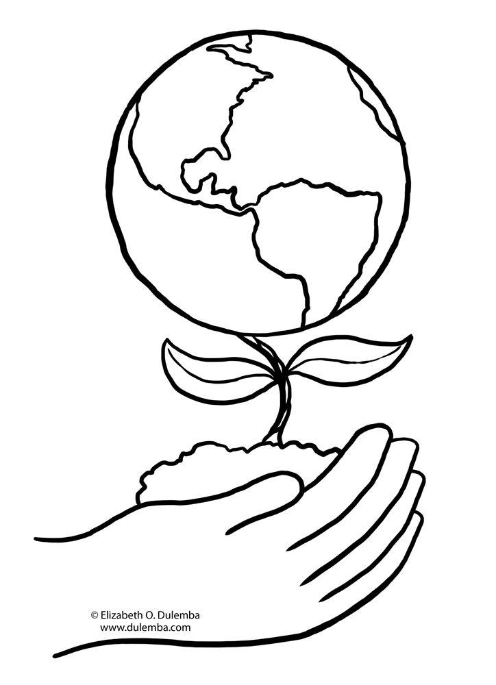 Cantinho Da Kate Planeta Terra Terra Desenho Paginas Para