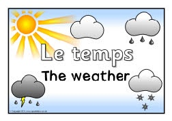 French weather posters