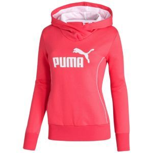 PUMA Fleece Hoodie - Women's - Sport Inspired - Clothing - Teaberry/White