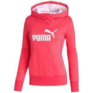 PUMA Fleece Hoodie - Women's - Sport Inspired - Clothing - Teaberry/White
