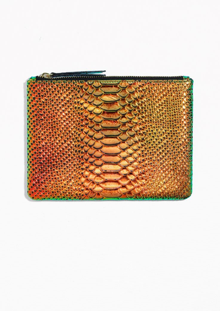 & Other Stories | Iridescent Reptile Leather Clutch
