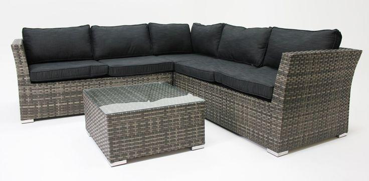 Francesca modular lounge setting grey/charcoal