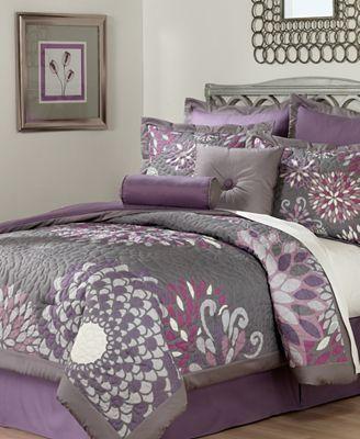 lavender & gray bedroom
