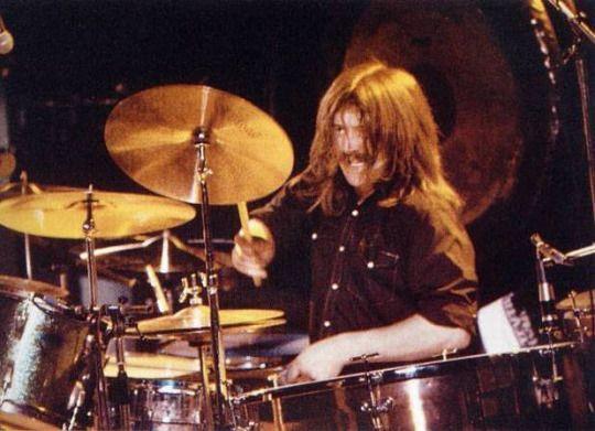 John Bonham, Belfast, March 5, 1971. The first show to promote Led Zeppelin IV.