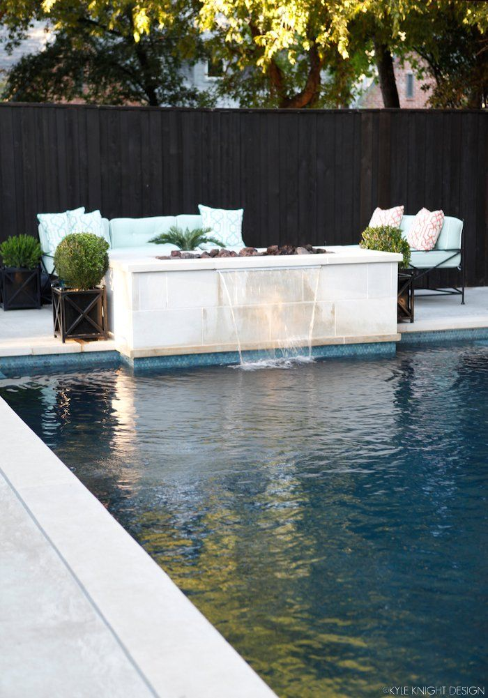 Knight Moves: Pool and Patio Update - fire pit with lounge area